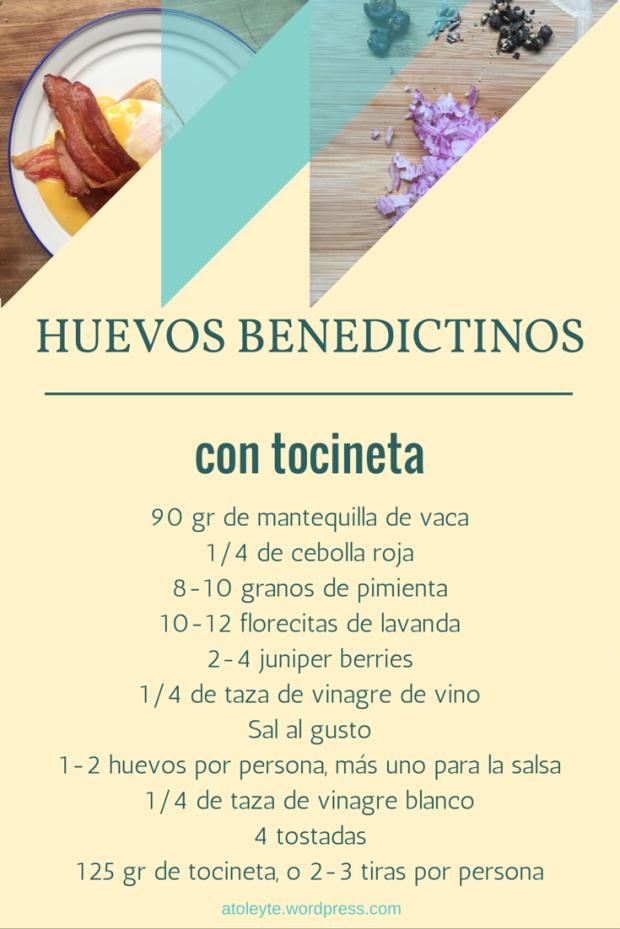 Receta como hacer huevos benedictinos (ingredientes)